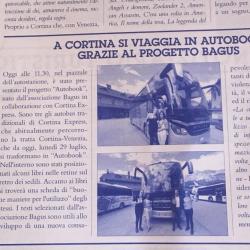 A Cortina si viaggia in Autobook grazie al progetto Bagus